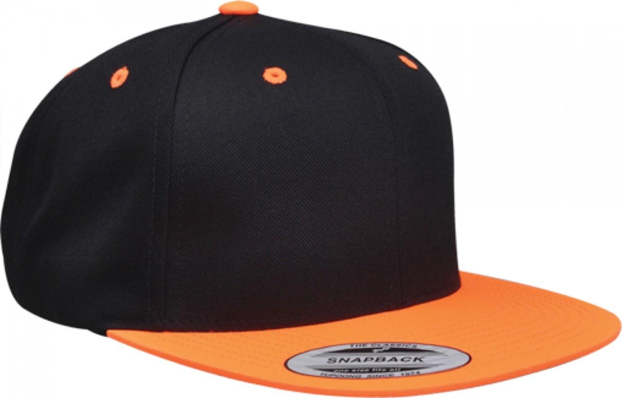 6089MT Flexfit Classic Snapback Snap Back Baseball Blank Plain Hat Cap Yupoong